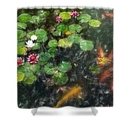 Lily 0147 - Light Colored Pencil Sl Shower Curtain