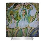 Lily Allegro Ballet Shower Curtain