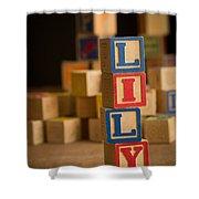 Lily - Alphabet Blocks Shower Curtain
