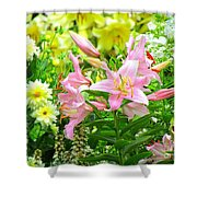 Lily And Friends Shower Curtain