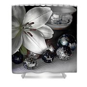 Lily And Marbles Shower Curtain