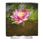 Lily Impression Shower Curtain