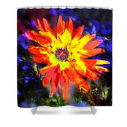 Lily In Vivd Colors Shower Curtain by Gunter Nezhoda