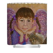 Lily Isabella Little Angel Of The Balance Between Giving And Receiving Shower Curtain