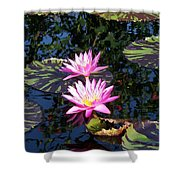 Lily Monet Shower Curtain