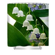 Lily Of The Valley Green Shower Curtain