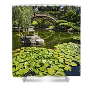 Lily Pad Garden - Japanese Garden At The Huntington Library. Shower Curtain