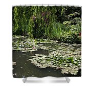Lily Pads Monets Garden Shower Curtain