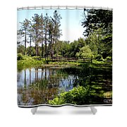 Lily Pond And Bridge Shower Curtain