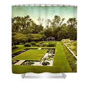 Lily Pond Garden Shower Curtain
