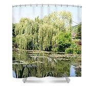 Lily Pond In Monets Garden Shower Curtain