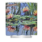 Lily Pond Reflections Shower Curtain