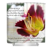 Lily With Scripture Shower Curtain