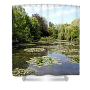 Lilypond Monets Garden Shower Curtain