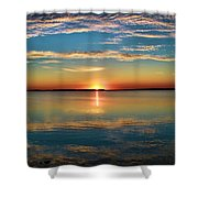 Lima Ohio Sunset Shower Curtain