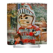 Lima Senior Mascot Shower Curtain