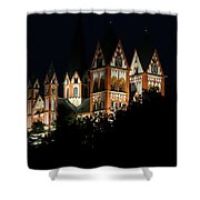 Limburg Cathedral At Night Shower Curtain