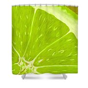 Lime Shower Curtain by Anastasiya Malakhova