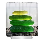 Lime Breeze Shower Curtain by Barbara McMahon