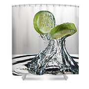 Lime Freshsplash Shower Curtain
