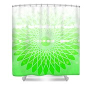 Lime Green Spirograph Shower Curtain