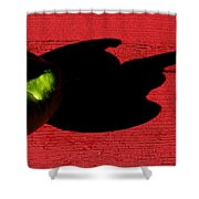 Lime Red Shower Curtain