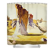 Lime Rock Quarry II Shower Curtain by Edward Hopper
