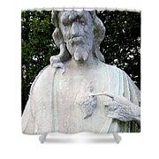 Limestone Jesus Shower Curtain