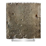 Limestone Pockmarked By Bullets Shower Curtain
