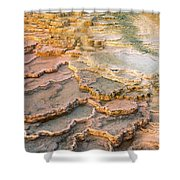 Limestone Terraces Yellowstone National Park Shower Curtain