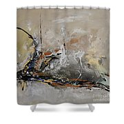 Limitless - Abstract Painting Shower Curtain by Ismeta Gruenwald