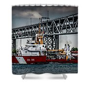 Limnos Coast Guard Canada Shower Curtain