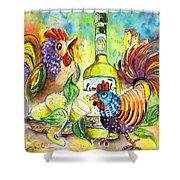 Limoncello Di Sicilia Shower Curtain