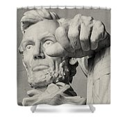 Lincoln - 3463 On The Train Shower Curtain