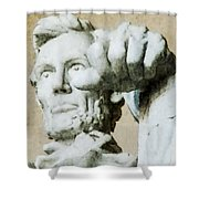 Lincoln - 3463 Watercolor 1 Shower Curtain