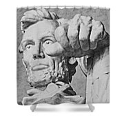 Lincoln - 3463charcoal 2 Hp Shower Curtain