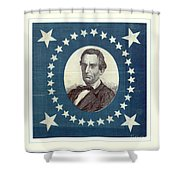 Lincoln 1860 Presidential Campaign Banner - Bust Portrait Shower Curtain