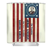 Lincoln 1860 Presidential Campaign Banner Shower Curtain