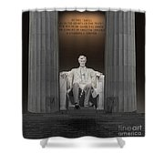 Lincoln And Columns Shower Curtain