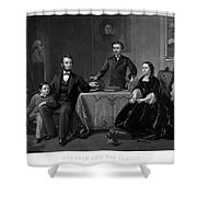 Lincoln And Family Shower Curtain