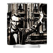 Lincoln Arriving At Gettysburg Shower Curtain