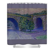 Lincoln Ave Bridge Pittsburgh Shower Curtain