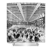 Lincoln Ball, 1865 Shower Curtain