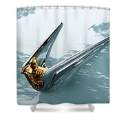 Lincoln Capri Hood Ornament Shower Curtain
