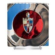 Lincoln Capri Wheel Emblem Shower Curtain by Jill Reger