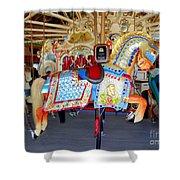 Lincoln Centennial Horse Shower Curtain