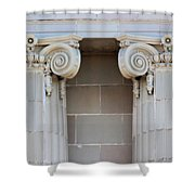 Lincoln County Courthouse Columns Shower Curtain