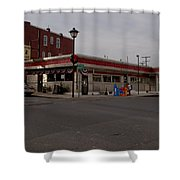 Lincoln Diner Shower Curtain