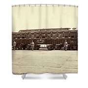 Lincoln Funeral Car, 1865 Shower Curtain