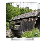 Lincoln Gap Covered Bridge Shower Curtain